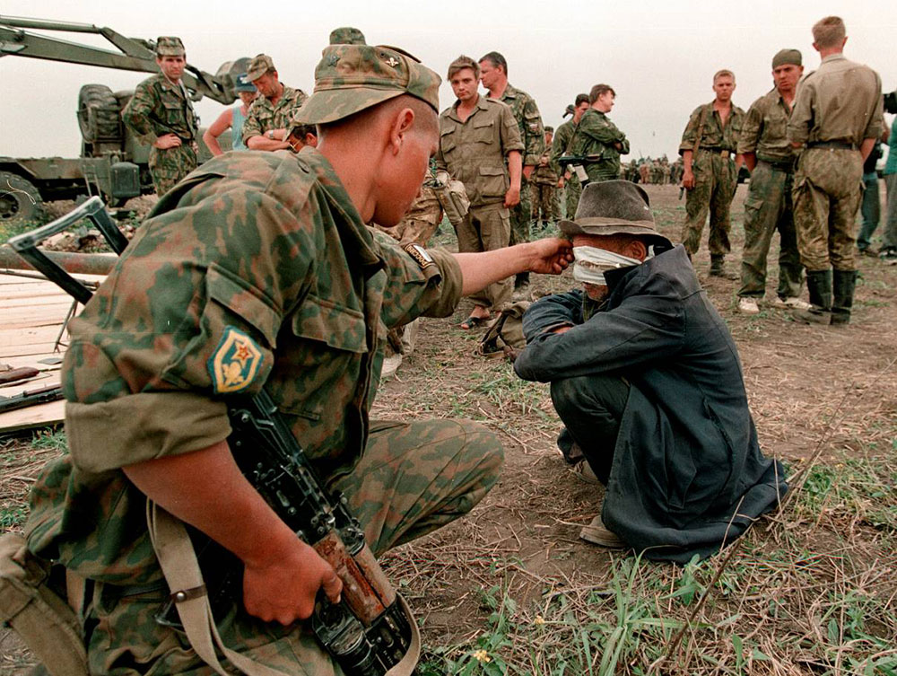 <h2>Chechen war</h2>  No subject for witticisms. There were two wars in Chechnya — the first Chechen war in 1994 and another round in 1999. The wars were basically an attempt to suppress breakaway attempts by the Caucasus republic through guerilla warfare/terrorism (please pardon the very crude representation). It was horrendous. There's not really much to add.