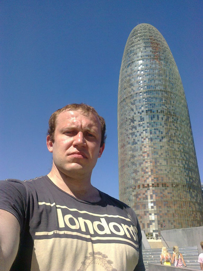 In Barcelona, near Torre Agbar.