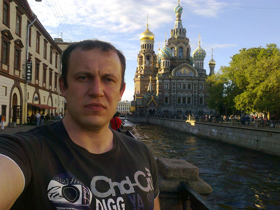 In Saint Petersburg, near the Church of the Savior on Blood (Spas Na Krovi).