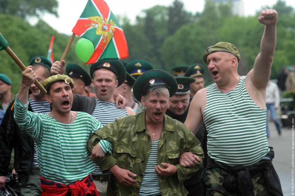 Празднование Дня Пограничных войск в Москве