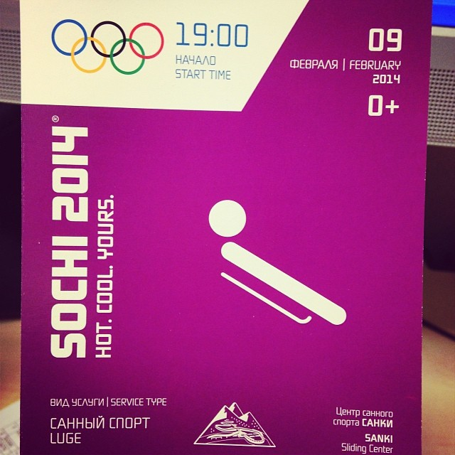 luge tickets for sochi olymics